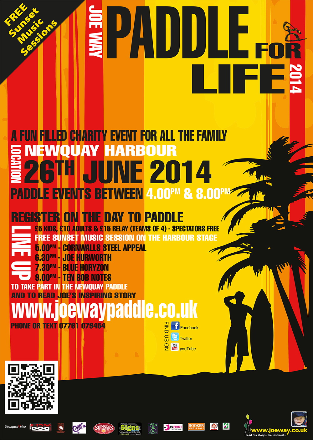 Paddle For Life 2014 - A3 Poster